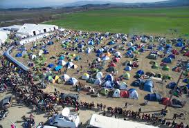 Idomeni Refugee Camp, along the Greek-Macedonian border
